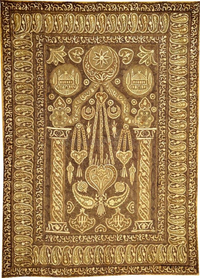 Traditionell Geometric Ethnic Orient Antique Carpet Textile Traditionellt etniskt ursprung Antique Carpet Textile Anatolia Orname arkivfoton