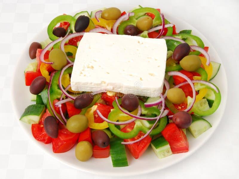 traditionell grekisk sallad royaltyfri fotografi