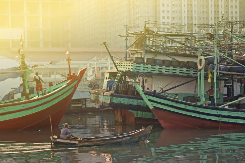 Traditionell hamn arkivfoton