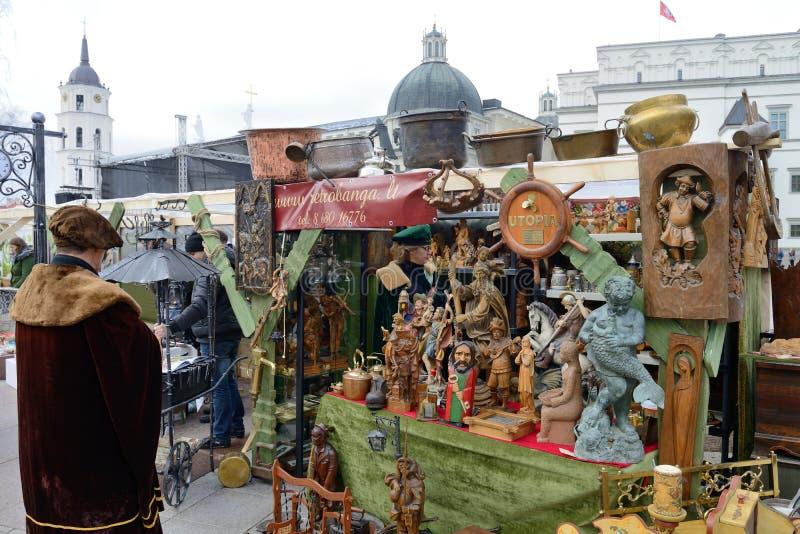 Traditionell hantverkmässa, Vilnius royaltyfria foton