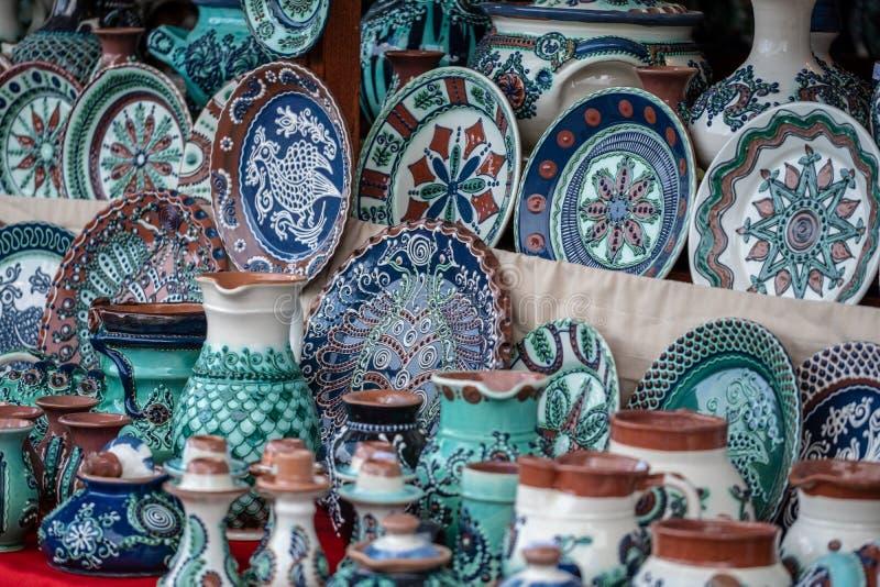 Traditionell Horezu keramik royaltyfria foton