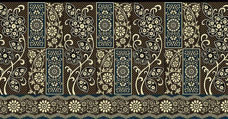 Traditionell indisk gr?ns royaltyfri illustrationer