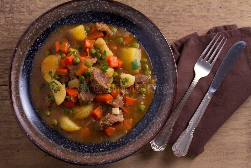 Traditionell irländsk lammragu Näringsrik välsmakande maträtt som är populär i Irland fotografering för bildbyråer