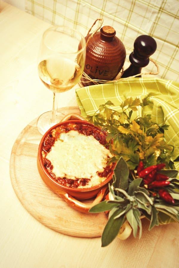 traditionell italiensk lasagna