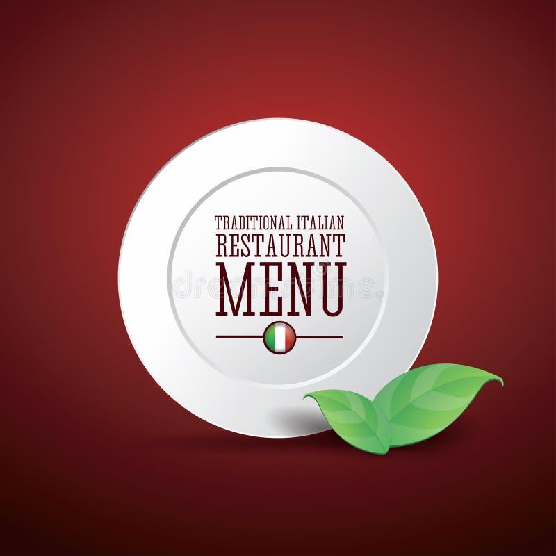 Traditionell italiensk restaurangmeny vektor illustrationer