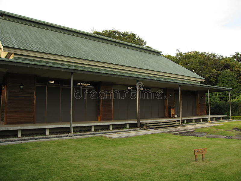 Traditionell japansk byggnad arkivfoto