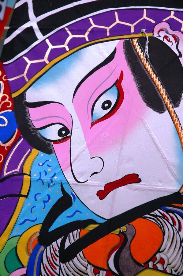 traditionell japansk drake för diagram arkivbilder