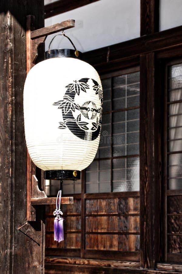 Traditionell japansk lykta royaltyfri fotografi