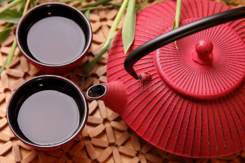 traditionell japansk teapot royaltyfri fotografi