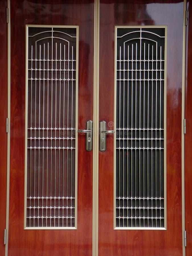 Traditionell kinesisk dörr arkivfoton