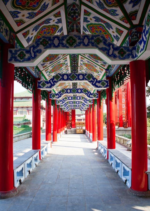 traditionell kinesisk korridor fotografering för bildbyråer