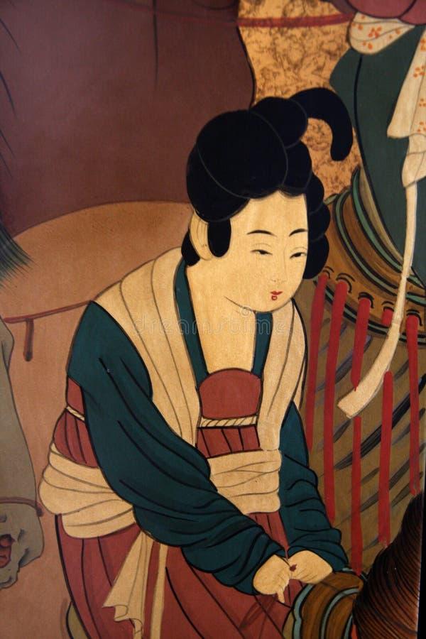traditionell kinesisk målning royaltyfria bilder
