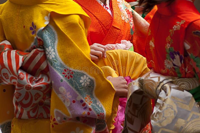 traditionell klädjapan arkivbilder