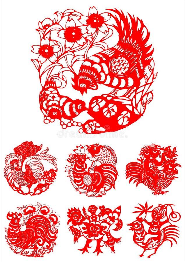 traditionell konstnärlig modell royaltyfri illustrationer