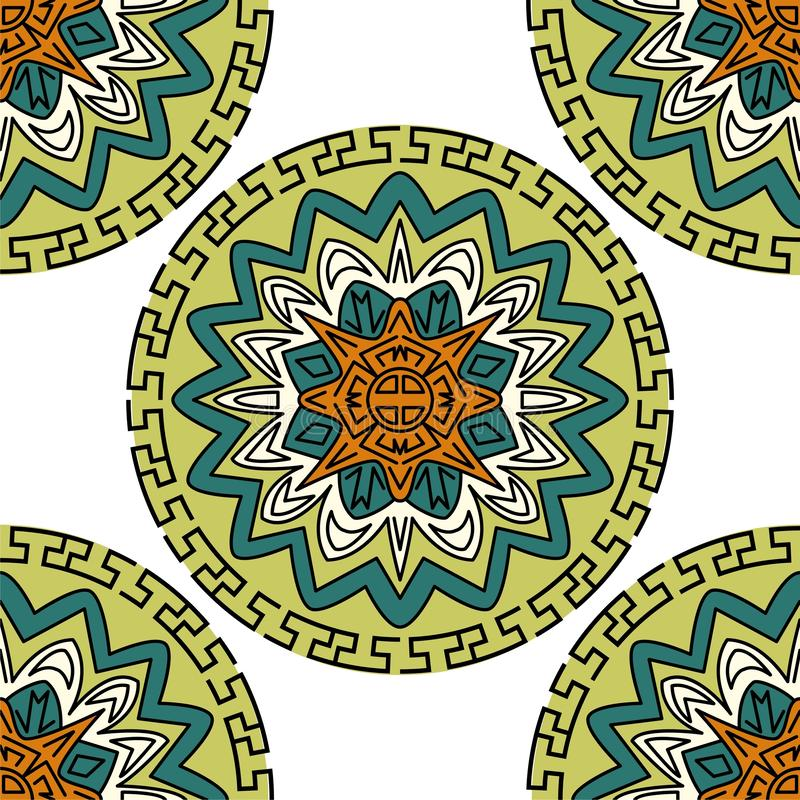 Traditionell korean, japan, kinesisk s?ml?s modelldesign Bakgrund f?r vektorillustrationsamling vektor illustrationer