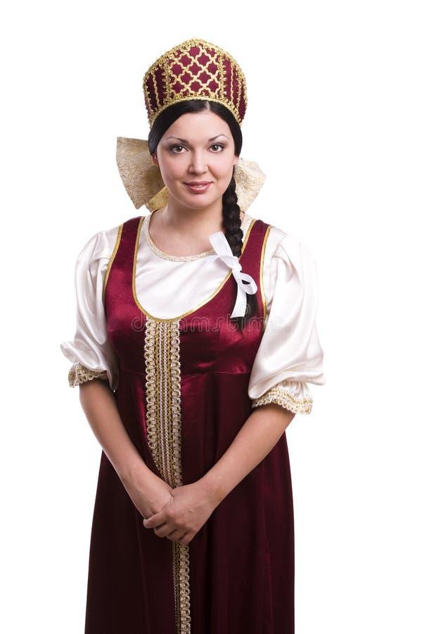 traditionell kvinna för dräktryss arkivbild