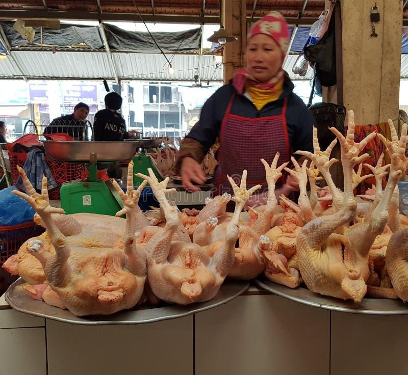Traditionell marknad av Sa-PA Vietnam royaltyfri bild