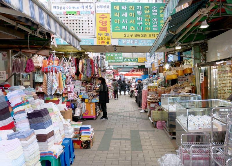 Traditionell marknad för Gukje marknad i Busan royaltyfri fotografi