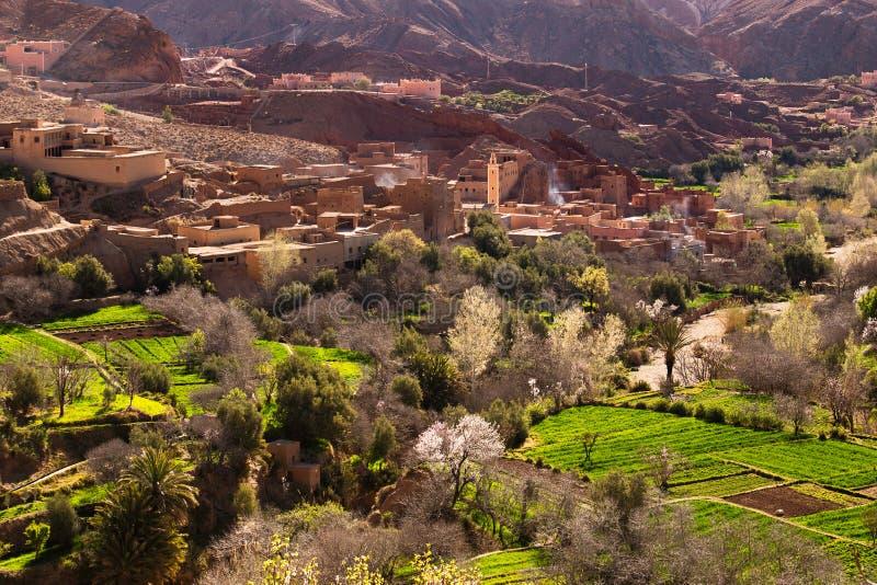 Traditionell marockansk by royaltyfri fotografi