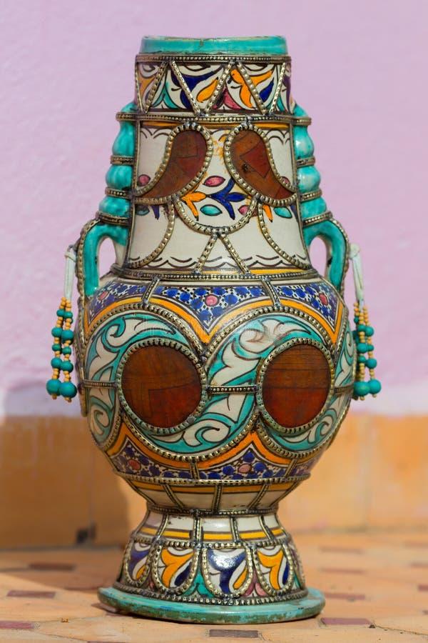 Traditionell marockansk krukmakeri royaltyfria bilder