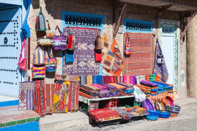 Traditionell moroccan textil royaltyfri foto