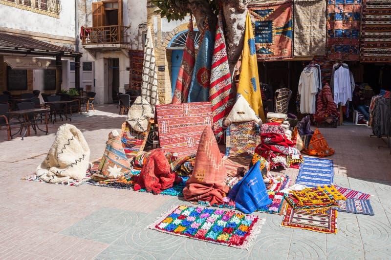 Traditionell moroccan textil arkivbild