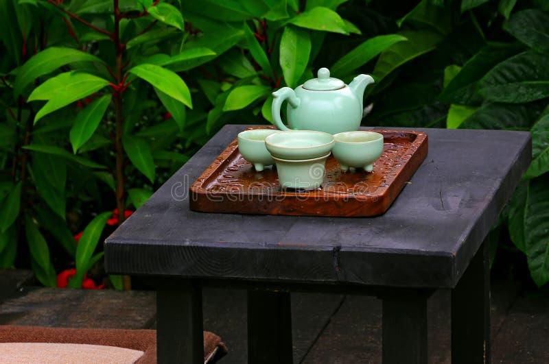 traditionell set tea för kines royaltyfria foton