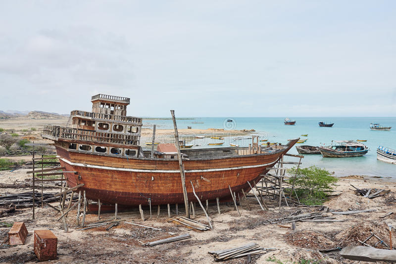Traditionell skeppsvarv arkivbild