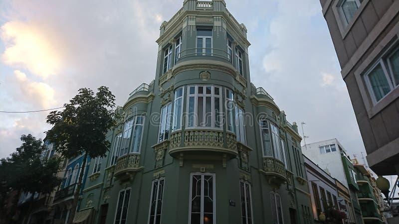 Traditionell spansk byggnad fotografering för bildbyråer