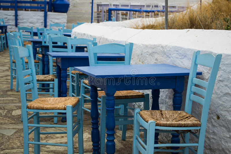 Traditionell taverna för Skopelos ö fotografering för bildbyråer