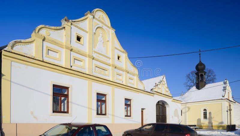 Traditionell tjeckisk stuga fotografering för bildbyråer