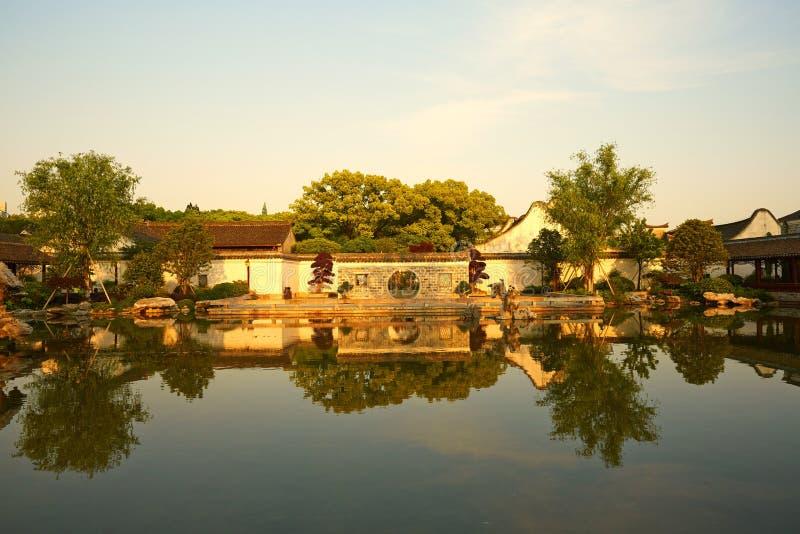 Traditionell trädgård i Ningbo, Kina royaltyfri fotografi