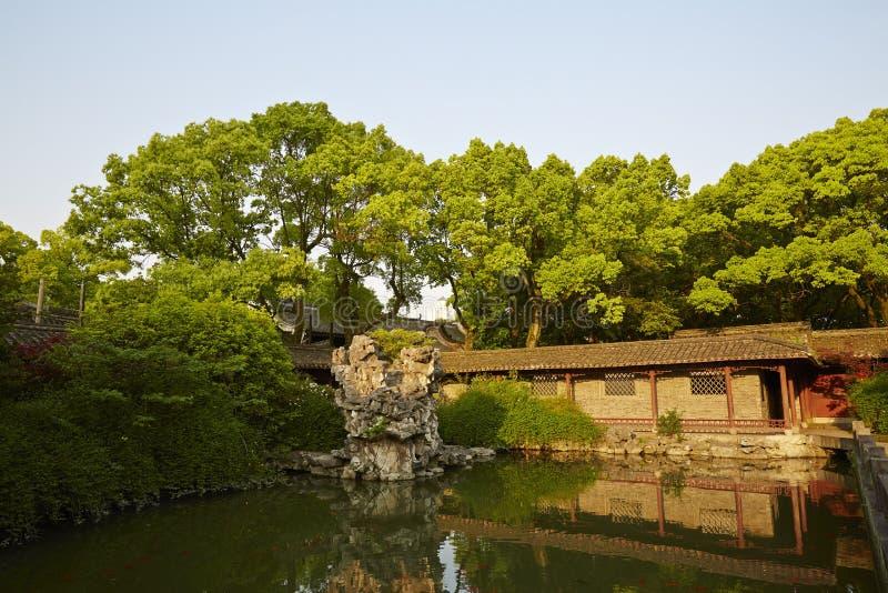 Traditionell trädgård i Ningbo, Kina arkivfoton