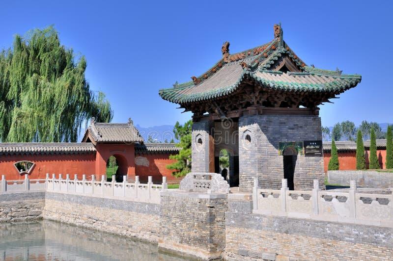 traditionell trädgårds- stil för kines royaltyfri fotografi