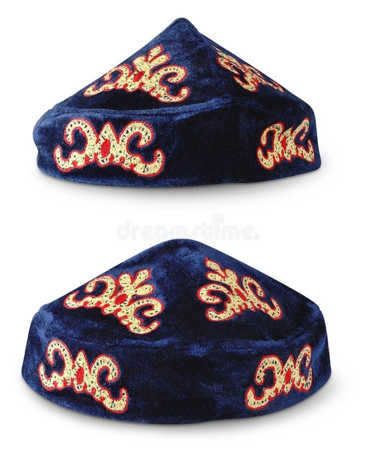 traditionell tubeteika för headwear kazakh arkivbilder