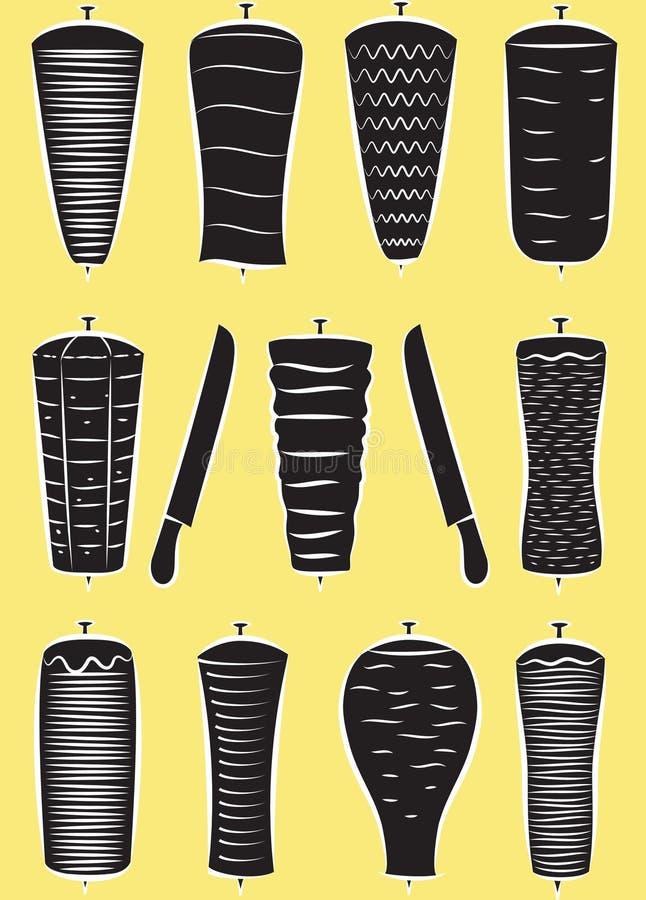traditionell turk för donermatkebab royaltyfri illustrationer