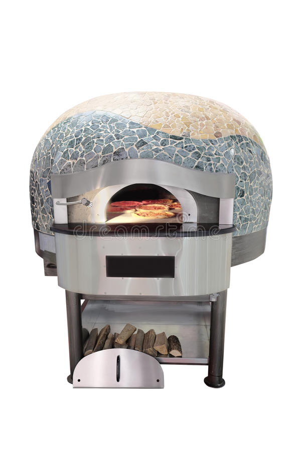 Traditionell ugn för att laga mat och att baka pizza arkivbild