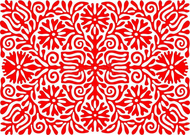 Traditionell ungersk tappningbroderimodell royaltyfri illustrationer
