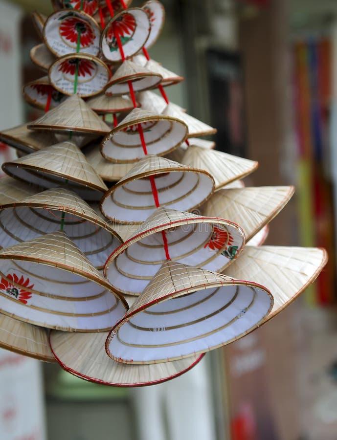 traditionell vietnames för kottehattar royaltyfri foto