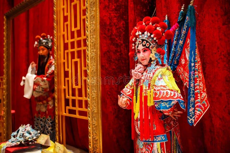 Beijing operawaxwork royaltyfri bild