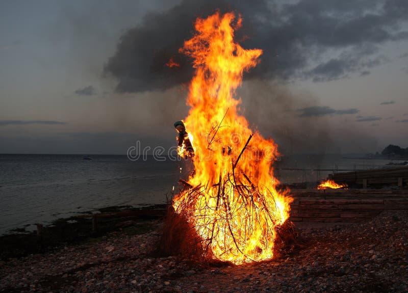 traditionell witchburning royaltyfri foto