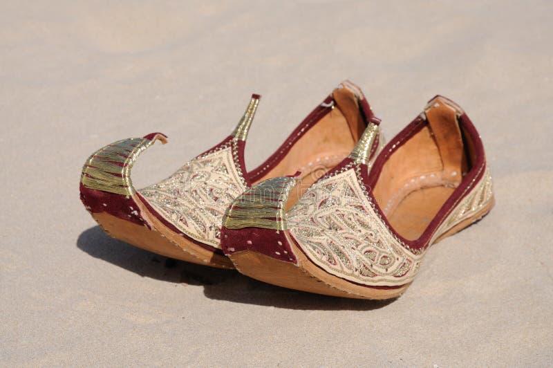 Traditionella Arabiska Skor Arkivfoto Bild av skor