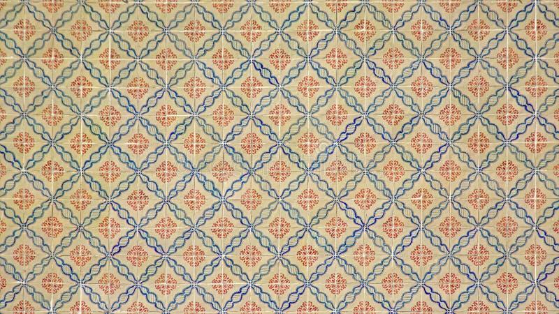 Traditionella azulejostegelplattor från Lissabon, Portugal arkivfoton
