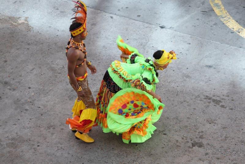 traditionella cartagena colombia dansare royaltyfria foton