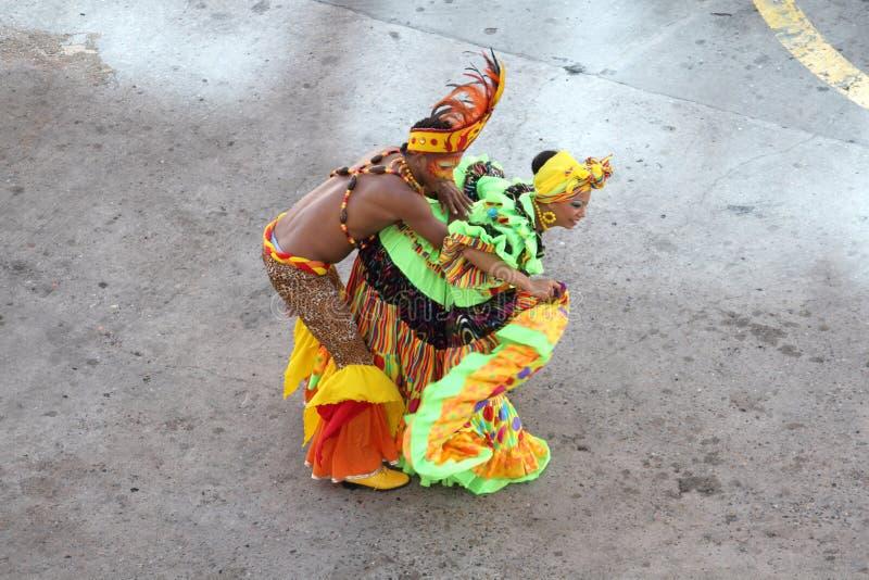 traditionella cartagena colombia dansare arkivfoton