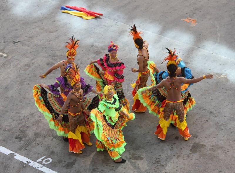 traditionella cartagena colombia dansare royaltyfri bild