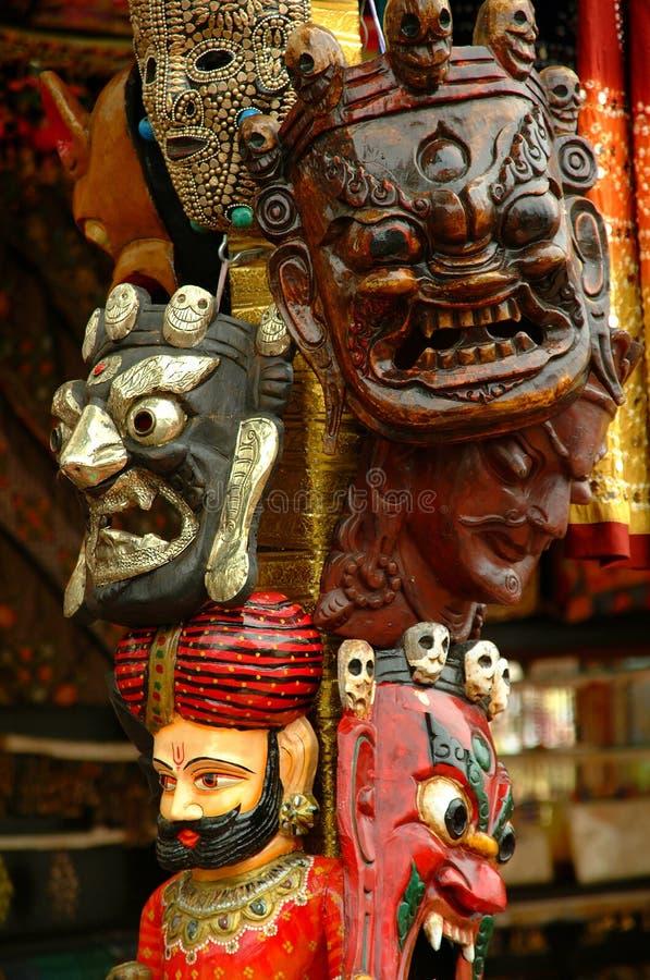 traditionella dekorativa maskeringar royaltyfria foton