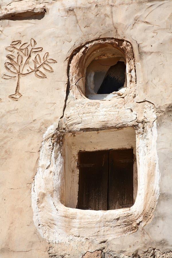 traditionella fönster yemen arkivbild