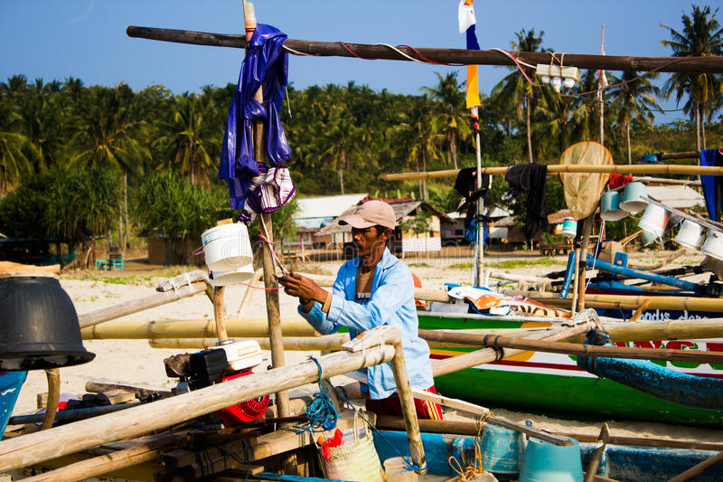 traditionella fiskare arkivbilder