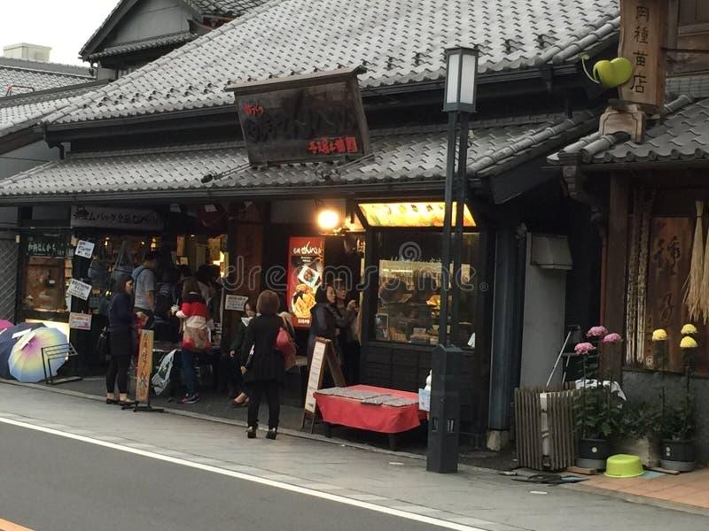 Traditionella gator av Japan royaltyfria bilder
